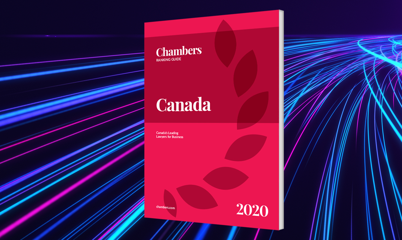 Chambers Canada 2020 : Blakes a le plus grand nombre de groupes de pratique en 1<sup>re</sup> position